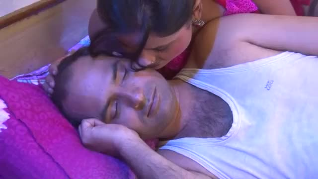 Married desi couple in bedroom seducing